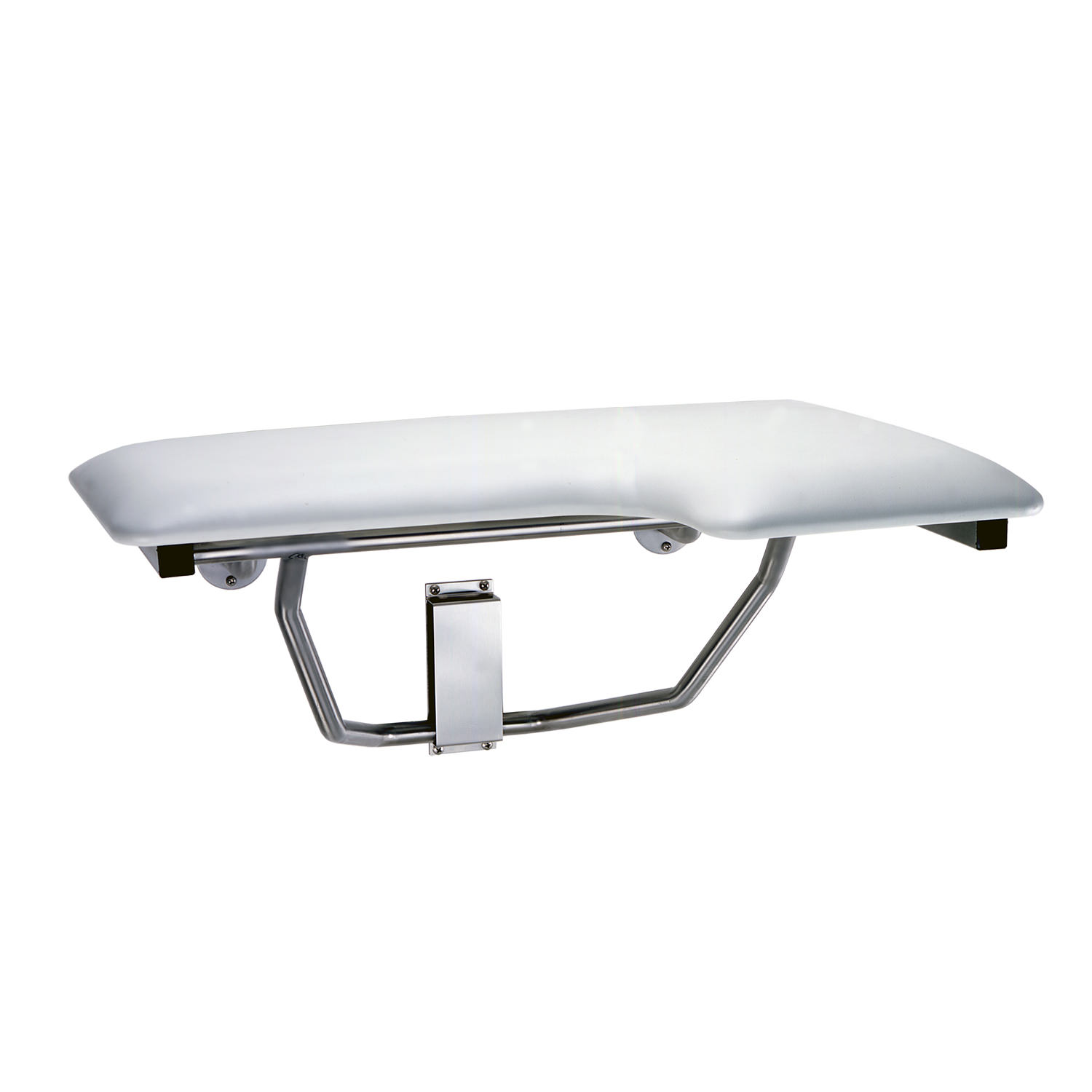 Folding Shower Seat With Padded Cushion For Right Hand Installation
